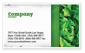 Agriculture and Animals: Lettuce Business Card Template #02484