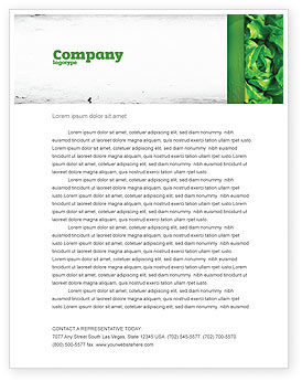 Agriculture and Animals: Lettuce Letterhead Template #02484