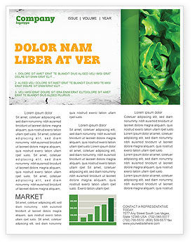 Agriculture and Animals: Lettuce Newsletter Template #02484