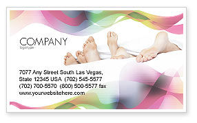 Modern Life Business Card Template, 02485, People — PoweredTemplate.com