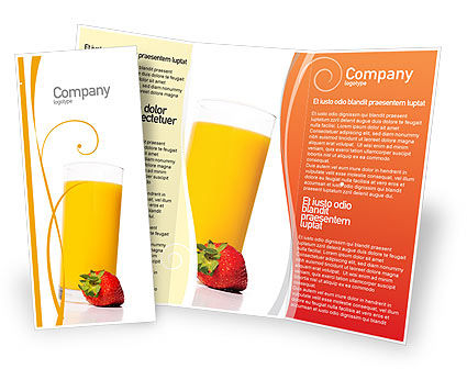 Juice Brochure Template, 02489, Food & Beverage — PoweredTemplate.com