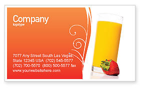 Food & Beverage: Juice Business Card Template #02489