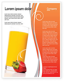 Juice Flyer Template, 02489, Food & Beverage — PoweredTemplate.com