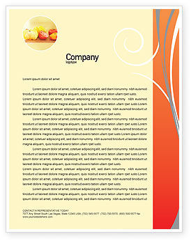 Food & Beverage: Juice Letterhead Template #02489