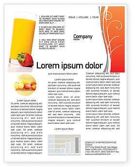 Food & Beverage: Templat Buletin Jus #02489