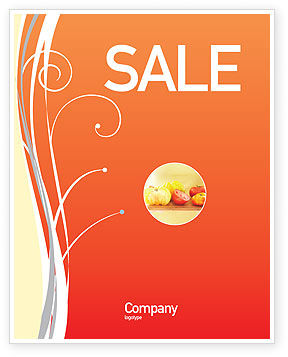 Juice Sale Poster Template, 02489, Food & Beverage — PoweredTemplate.com