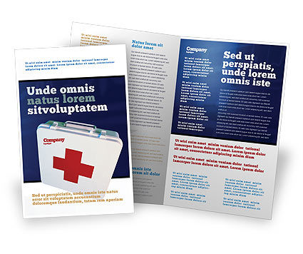 First Aid Brochure Template, 02490, Medical — PoweredTemplate.com