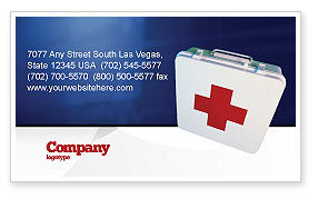 Medical: First Aid Business Card Template #02490