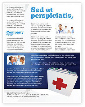 Medical: First Aid Flyer Template #02490