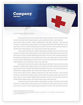 Medical: First Aid Letterhead Template #02490