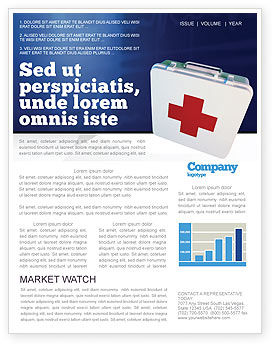 Medical: First Aid Newsletter Template #02490