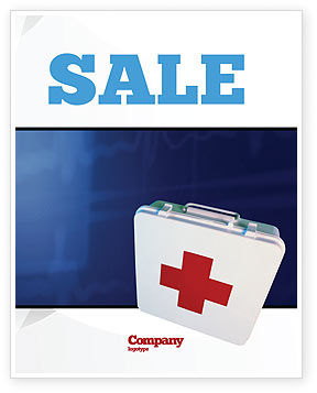 Medical: First Aid Sale Poster Template #02490