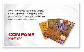 Plastic Credit Card Business Card Template