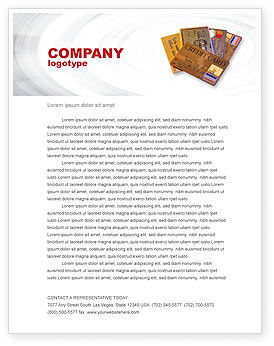 Plastic Credit Card Letterhead Template, 02491, Financial/Accounting — PoweredTemplate.com