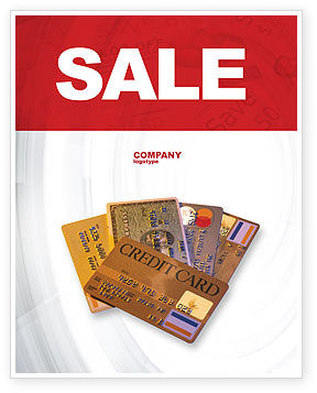 Financial/Accounting: Plastic Credit Card Sale Poster Template #02491
