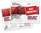 Medical: No Smoking Brochure Template #02493