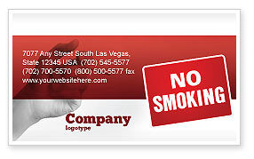 No Smoking Business Card Template, 02493, Medical — PoweredTemplate.com