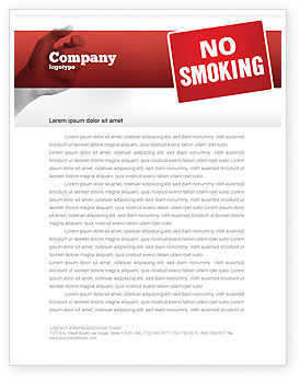 No Smoking Letterhead Template