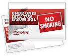 Medical: No Smoking Postcard Template #02493