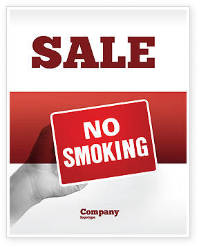 Medical: No Smoking Sale Poster Template #02493