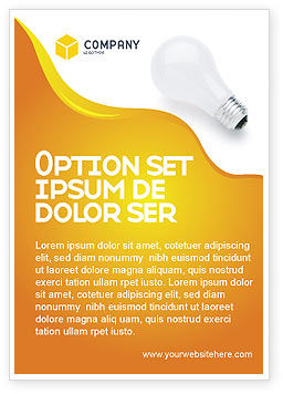 Lamp Ad Template, 02494, Consulting — PoweredTemplate.com