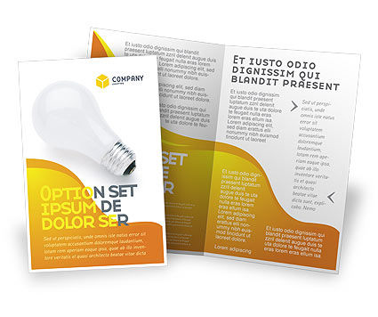 Lamp Brochure Template, 02494, Consulting — PoweredTemplate.com