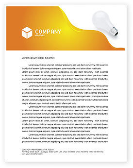 Consulting: Lamp Letterhead Template #02494