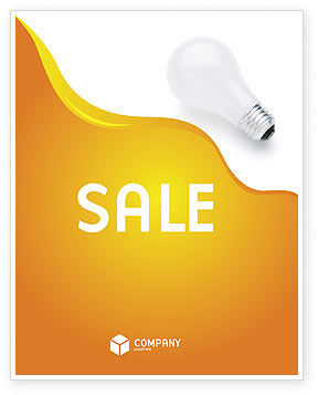 Lamp Sale Poster Template, 02494, Consulting — PoweredTemplate.com