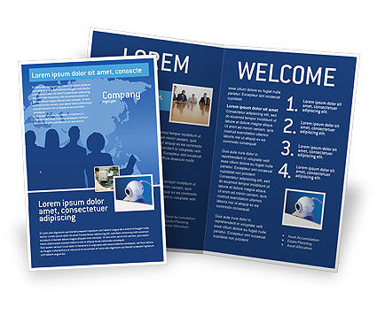 Globalization Brochure Template, 02495, Global — PoweredTemplate.com