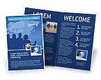 Global: Plantilla de folleto - globalización #02495