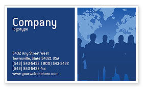 Globalization Business Card Template, 02495, Global — PoweredTemplate.com