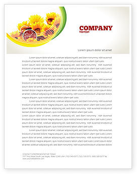 Country Life Letterhead Template, 02498, Medical — PoweredTemplate.com