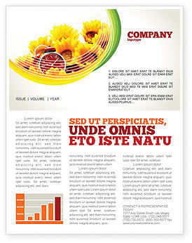 Country Life Newsletter Template, 02498, Medical — PoweredTemplate.com