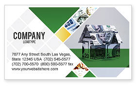 Financial/Accounting: Money House Business Card Template #02500
