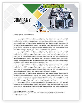 Financial/Accounting: Money House Letterhead Template #02500