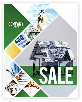 Financial/Accounting: Money House Sale Poster Template #02500