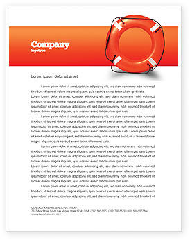 Business Concepts: Saving Buoy Letterhead Template #02501
