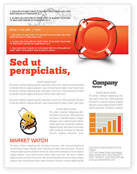 Business Concepts: Saving Buoy Newsletter Template #02501