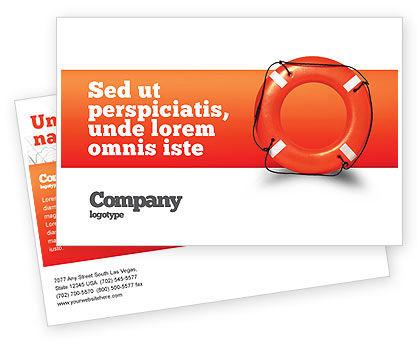 Saving Buoy Postcard Template, 02501, Business Concepts — PoweredTemplate.com