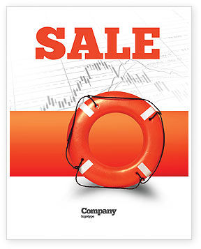 Saving Buoy Sale Poster Template, 02501, Business Concepts — PoweredTemplate.com