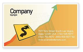 Zigzag Business Card Template, 02504, Business Concepts — PoweredTemplate.com
