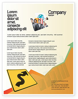 Business Concepts: Templat Flyer Zigzag #02504