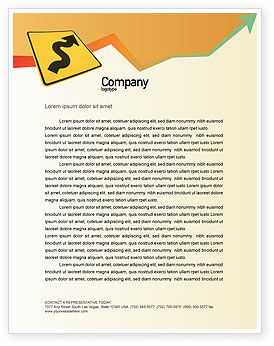 Business Concepts: Zigzag Letterhead Template #02504