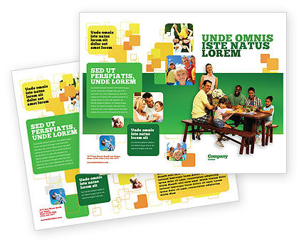 Junket Brochure Template, 02505, People — PoweredTemplate.com