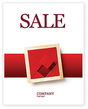 Japanese Puzzle Sale Poster Template, 02506, Art & Entertainment — PoweredTemplate.com