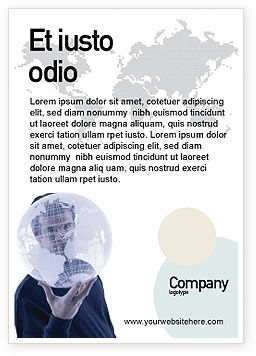 Global: Glass Globe Ad Template #02509