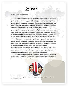 Glass Globe Letterhead Template