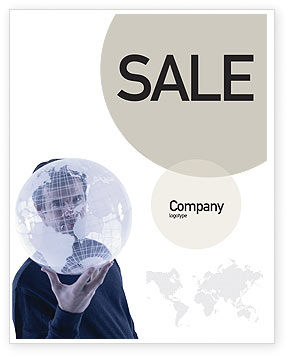 Global: Glass Globe Sale Poster Template #02509