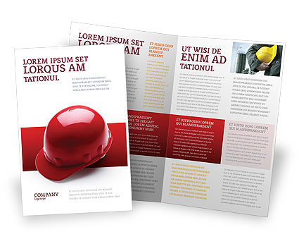 Personal safety brochure template design and layout for Personal brochure templates