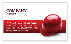 Personal Safety Business Card Template, 02510, Careers/Industry — PoweredTemplate.com